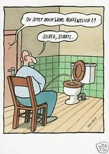 "Postkarte, Humor / Cartoon / Satire ""Sitzpinkler"""