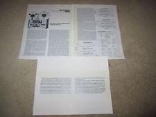 Pioneer Rt-1020L Open Reel Review, 1974, 3 pgs, Specs