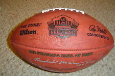Class of 2009 Hall of Fame AUTOGRAPHED SIGNED WILSON LE FOOTBALL  - HOF COA