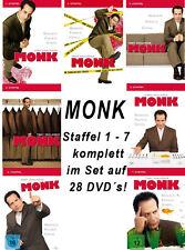 28 DVDs * MONK - STAFFEL 1 - 7 IM SET  # NEU OVP +