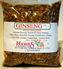 Herbs by Merlin FOUR GINSENG TEA Organic Tea 3 oz