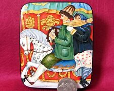 "LACQUER Box Hand Painted KUSTODIEV ""Merry-Go-Round"" Russian signed Silantyeva"