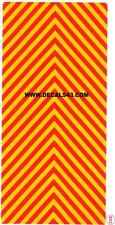 decals decalcomanie chevron signalisation jaune moderne pompier   1/43