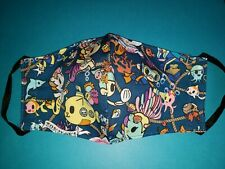 tokidoki Dark Blue Adult Washable Reusable Face Cover Face Mask-A