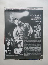 Meat Loaf Marvin Michael Lee Aday Karla DeVito Steinman clippings Holland Dutch