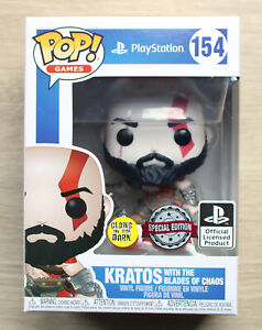 Funko Pop Games Kratos With The Blades Of Chaos GITD + Free Protector