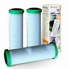 3x Carbonit Charbon Actif NFP Premium U-9 Filtre à Eau de Remplacement (111,00