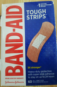 Band-Aid Brand Tough Strips Adhesive Bandage, All One Size, 60 ct FREE SHIPPING