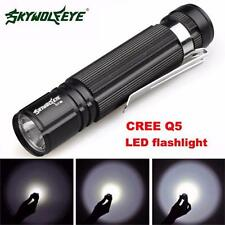 7W CREE Q5 LED 1200lm Mini Flashlight Torch Light 14500/AA Lamp Waterproof HOT5