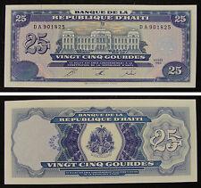 Haiti Paper Money 25 Gourdes 1993 UNC