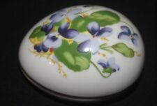 Danbury Mint Egg with Violets Trinket Box/1980 Limited Edition