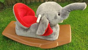 HEUNEC Bezaubernder SCHAUKELELEFANT Schaukeltier Elefant Weicher PLÜSCH BESTENS