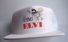 Flying Elvi White Parachuting Impersonators Snapback Trucker Hat Vintage Cap