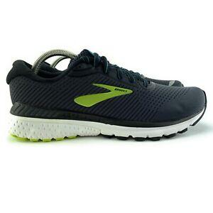 Brooks Men's Adrenaline GTS 20 Black Lime Running Shoes Size 10 D