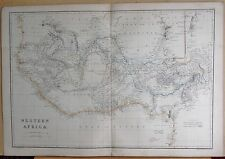 1860  LARGE ANTIQUE MAP - WESTERN AFRICA
