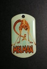 MADAGASCAR MELMAN GIRAFFE UPSIDE DOWN  DOG TAG MOVIE FOR NECKLACE CHARM PENDANT