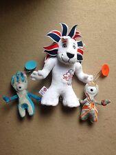 Londres 2012 pegar en Mandeville y Wenlock Juegos Olímpicos Juegos Paralímpicos y blanda Juguete León
