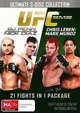 UFC PENN VS DIAZ/LEBEN VS MUNOZ DVD 3 DISC SET -free postage