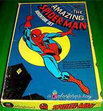 AMAZING SPIDERMAN RARE VINTAGE 1974 COLORFORMS ADVENTURE SET COMPLETE