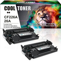 2 Pack 26A CF226A Toner Cartridge for HP LaserJet Pro M402n M402dn MFP M426fdw