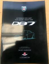 Aston Martin DB7 Celebration Book - 20 Things You May Not Know About The DB7