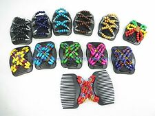 20 pieces Double Magic Hair Combs, Stretchy Wooden Butterfly Clips