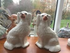 Pair Victorian wally dogs
