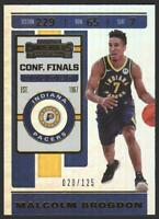 19-20 Contenders CONFERENCE FINALS Ticket 74 Malcolm Brogdon /125 Indiana Pacers