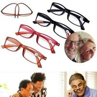 Women Mens Reading Glasses Presbyopic Elders Full Rim Unisex 150 200 250 300