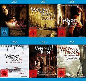 6 Blu-rays * WRONG TURN  1 - 6 IM SET  ~ FSK 18 # NEU OVP +