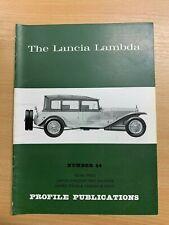 PROFILE PUBLICATIONS CARS #44 THE LANCIA LAMBDA