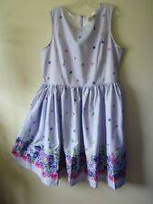 LINDY BOP TEA DRESS SWING Audrey Lavender Floral 1950s Jive Stretchy  Sz 22 NEW