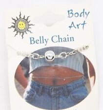 Fits up to 36 in. Waist #707 Silver Tone Body Art Belly Chain .