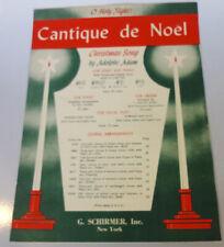 Cantique de Noel Christmas Song 1935 Sheet Music Schirmer English French Piano