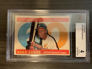 1960 Topps Hank Aaron ALL-STAR #566 BVG 4 VGEX