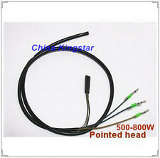 500-800w Pointed Head Electric Scooter Bicycle High Temperature Motor Cable/2pcs