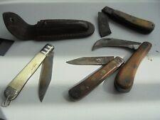 Canifs couteaux serpette lot de 4 anciens couteaux pliants, 3 complets et 1 très