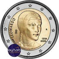 Rouleau 25 x 2 euros commémoratives ITALIE 2019 - Léonard de VINCI - UNC