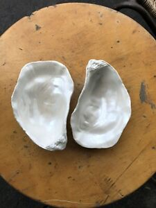 NEW Creative Co-op Oyster Shell Trinket Jewelry Tray Dish  Pearl Opalescence