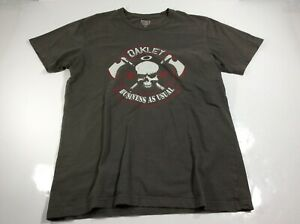 Oakley Mens Size Medium Gray Graphic T-Shirt