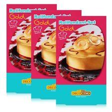 Dekoback Decocino Rollfondant-Set Gold 250g - Kreativ backen (3er Pack)