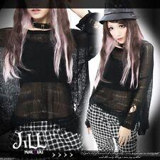 japan KERA street punk Oosaki Nana sexy distressed knit thin jumper【J2W0001】B