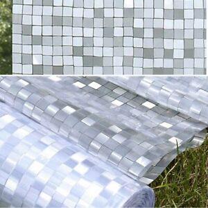 Pellicule Privacy Effet Mosaïque pour Fenêtres Verre Adhésive Anti UV Chaleur