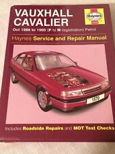 HAYNES MANUAL 1570 VAUXHALLCAVALIER 1988-1995 , PETROL .  FREE UK POSTAGE