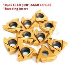 10pcs AG60 16 ER (3/8'')Carbide Threading Insert External Turning Toolholder