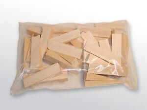 Holz Treppenkeile, Fliesenkeile 50 Stck. 100 x 24 x 1-17 mm