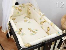 Large Padded Crib Bumper 260cm Long To Fit Regular Crib / Cradle 90x40 - Ecru