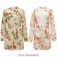 Plus Size Long Sleeve Floral Jumpsuits & Playsuits for Women