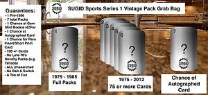 Vintage Sports Cards Unopened Packs from Box 100+ Card Lot Pre-1986 Guarantee