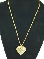 Ladies Fashion Champagne colored Crystal heart pendant with chain